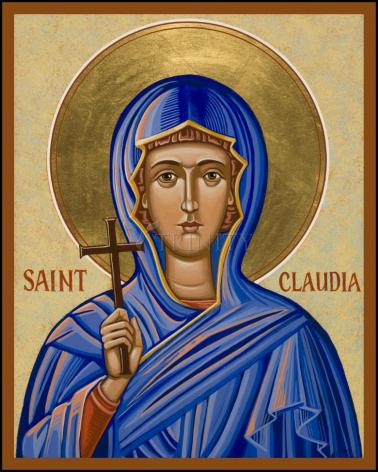 Wood Plaque - St. Claudia by J. Cole