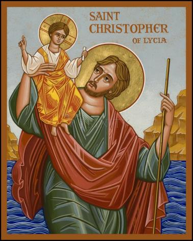 Wood Plaque - St. Christopher by J. Cole