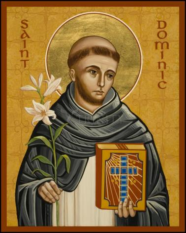 Wood Plaque - St. Dominic by J. Cole
