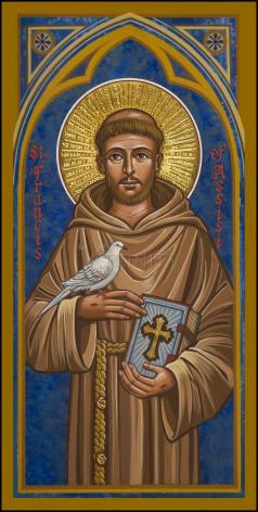 Wood Plaque - St. Francis of Assisi by J. Cole