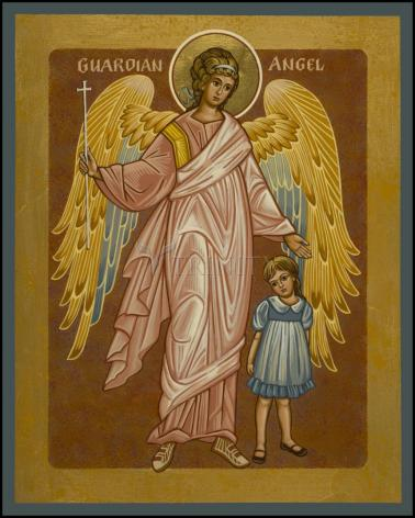 Wood Plaque - Guardian Angel with Girl by J. Cole