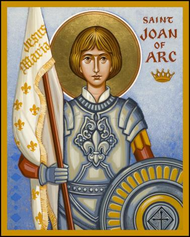 Wood Plaque - St. Joan of Arc by J. Cole