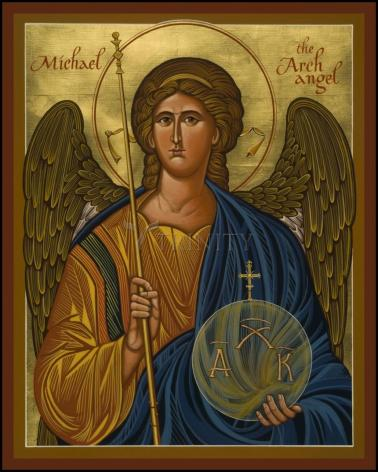 Wood Plaque - St. Michael Archangel by J. Cole