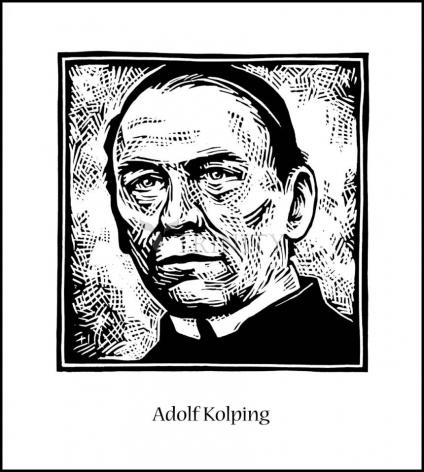 Wood Plaque - St. Adolf Kolping by J. Lonneman