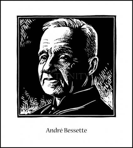 Wood Plaque - St. André Bessette by J. Lonneman