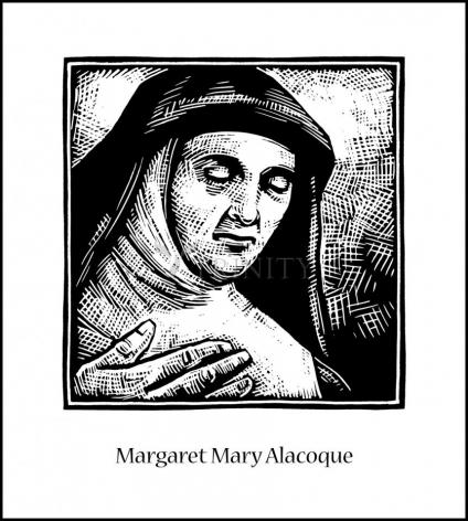 Wood Plaque - St. Margaret Mary Alacoque by J. Lonneman
