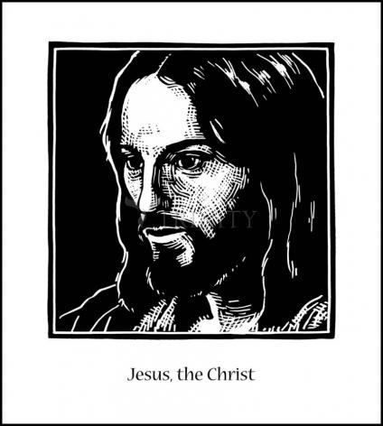 Wood Plaque - Jesus, the Christ by J. Lonneman