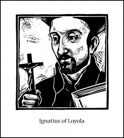 Wood Plaque - St. Ignatius by J. Lonneman