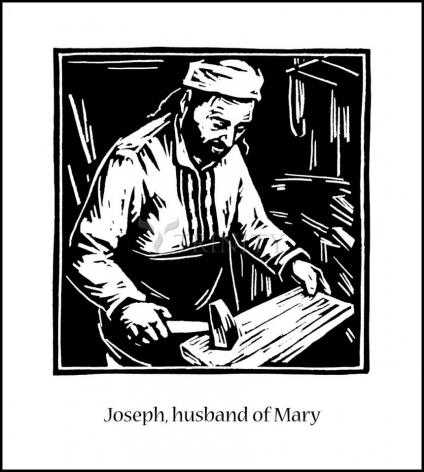Wood Plaque - St. Joseph, husband of Mary by J. Lonneman
