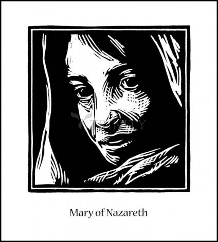 Wood Plaque - Mary of Nazareth by J. Lonneman