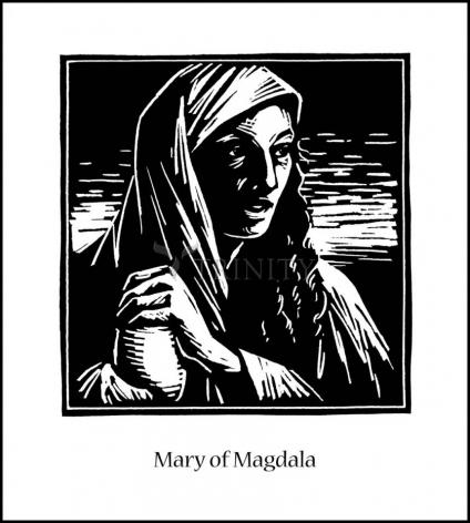 Wood Plaque - St. Mary Magdalene by J. Lonneman