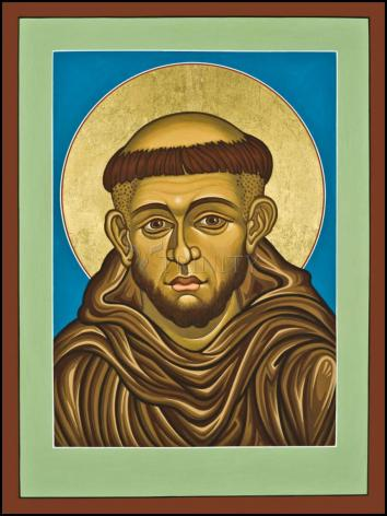 Wood Plaque - St. Francis of Assisi by L. Williams