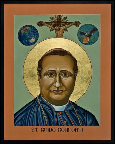 Wood Plaque - St. Guido Maria Conforti by L. Williams