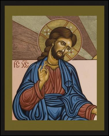 Wood Plaque - Jesus of Nazareth by L. Williams