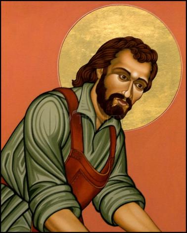 Wood Plaque - St. Joseph the Worker by L. Williams