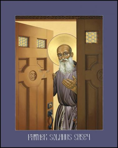 Wood Plaque - Bl. Solanus Casey by L. Williams