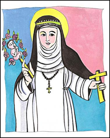 Wood Plaque - St. Catherine of Siena by M. McGrath
