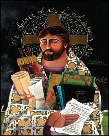 Wood Plaque - Christ the Teacher by M. McGrath