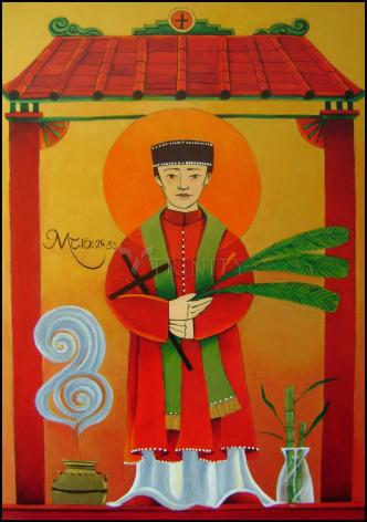 Wood Plaque - St. Andrew Dung-Lac by M. McGrath