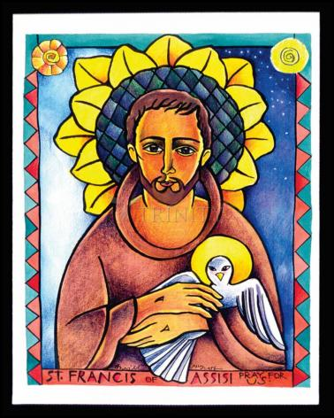 Wood Plaque - St. Francis of Assisi by M. McGrath