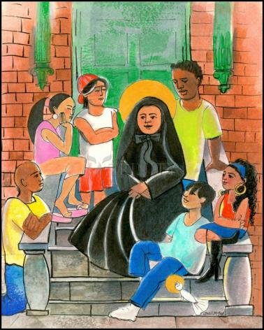 Wood Plaque - St. Frances Cabrini by M. McGrath
