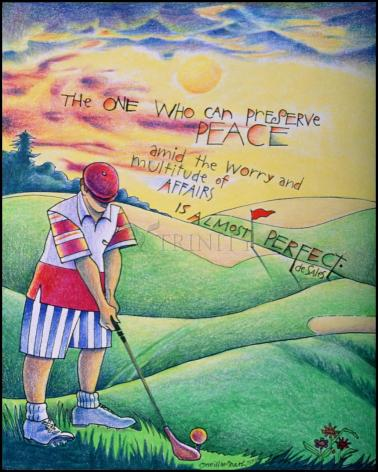 Wood Plaque - Golfer: The One Who Can by M. McGrath