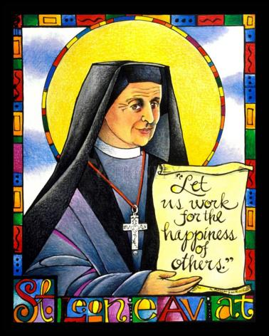 Wood Plaque - St. Leonie Aviat by M. McGrath