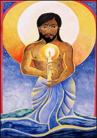Wood Plaque - Jesus: Light of the World by M. McGrath