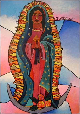 Wood Plaque - Our Lady of Guadalupe by M. McGrath