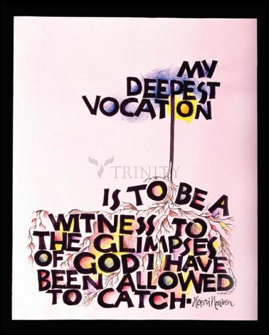 Wood Plaque - My Deepest Vocation by M. McGrath
