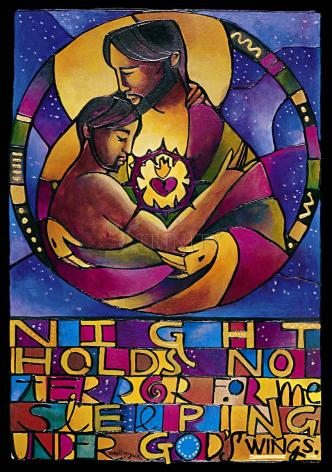 Wood Plaque - Night Holds No Terror by M. McGrath