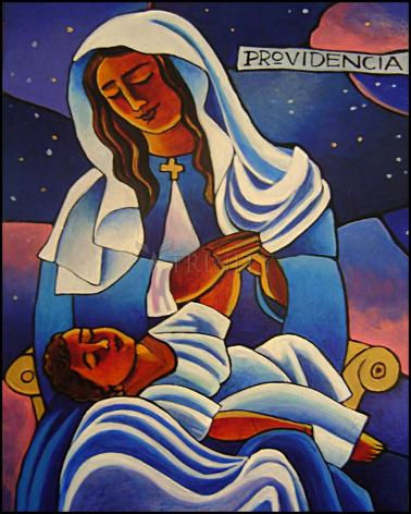 Wood Plaque - Our Lady of the Divine Providence by M. McGrath