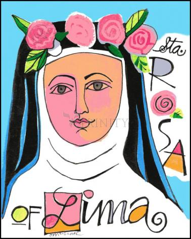Wood Plaque - St. Rose of Lima by M. McGrath