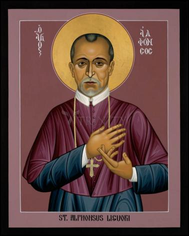 Wood Plaque - St. Alphonsus Liguori by R. Lentz