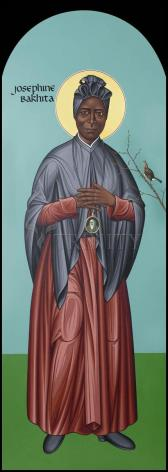 Wood Plaque - St. Josephine Bakhita by R. Lentz