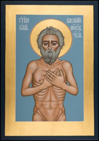 Wood Plaque - St. Basil the Blessed of Moscow by R. Lentz