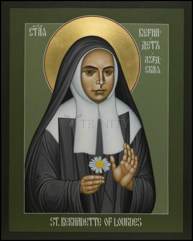 Wood Plaque - St. Bernadette of Lourdes by R. Lentz