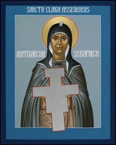 Wood Plaque - St. Clare of Assisi: Seraphic Matriarch by R. Lentz