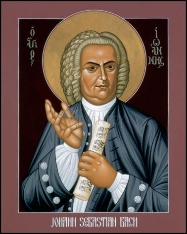 Wood Plaque - Johann Sebastian Bach by R. Lentz