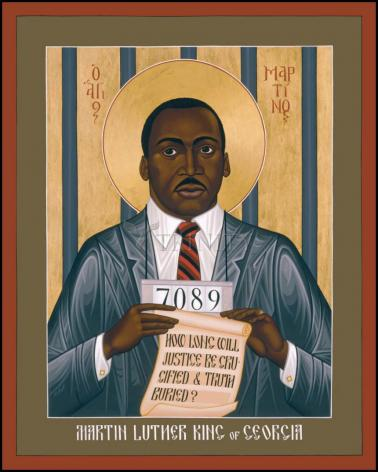 Wood Plaque - Martin Luther King of Georgia by R. Lentz