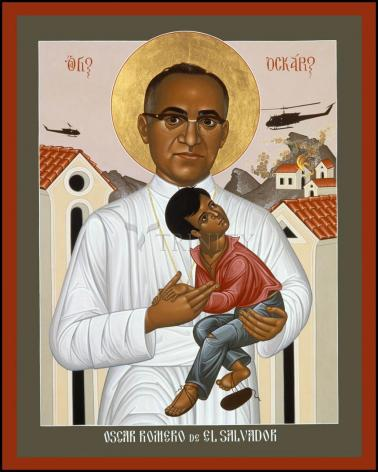 Wood Plaque - St. Oscar Romero of El Salvador by R. Lentz