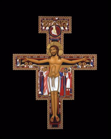 Wood Plaque - San Damiano Crucifix by R. Lentz