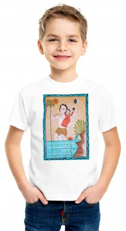 Youth T-shirt - St. Christopher by A. Olivas