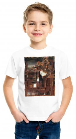 Youth T-shirt - Eagle Hovers Over Ruins by B. Gilroy