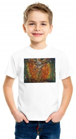 Youth T-shirt - Eagle in Fire That Does Not Burn by B. Gilroy