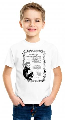 Youth T-shirt - Prayer of St. Francis by D. Paulos