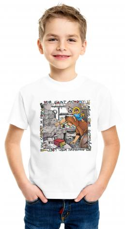 Youth T-shirt - St. Anthony of Padua by M. McGrath