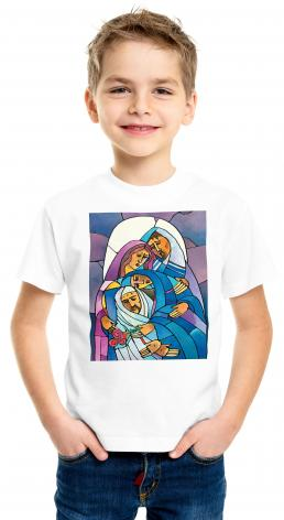 Youth T-shirt - Stations of the Cross - 14 Body of Jesus is Laid in the Tomb by M. McGrath