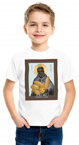 Youth T-shirt - St. Benedict the Black by R. Lentz