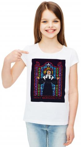 Youth T-shirt - Bernadette of Lourdes - Window by D. Paulos